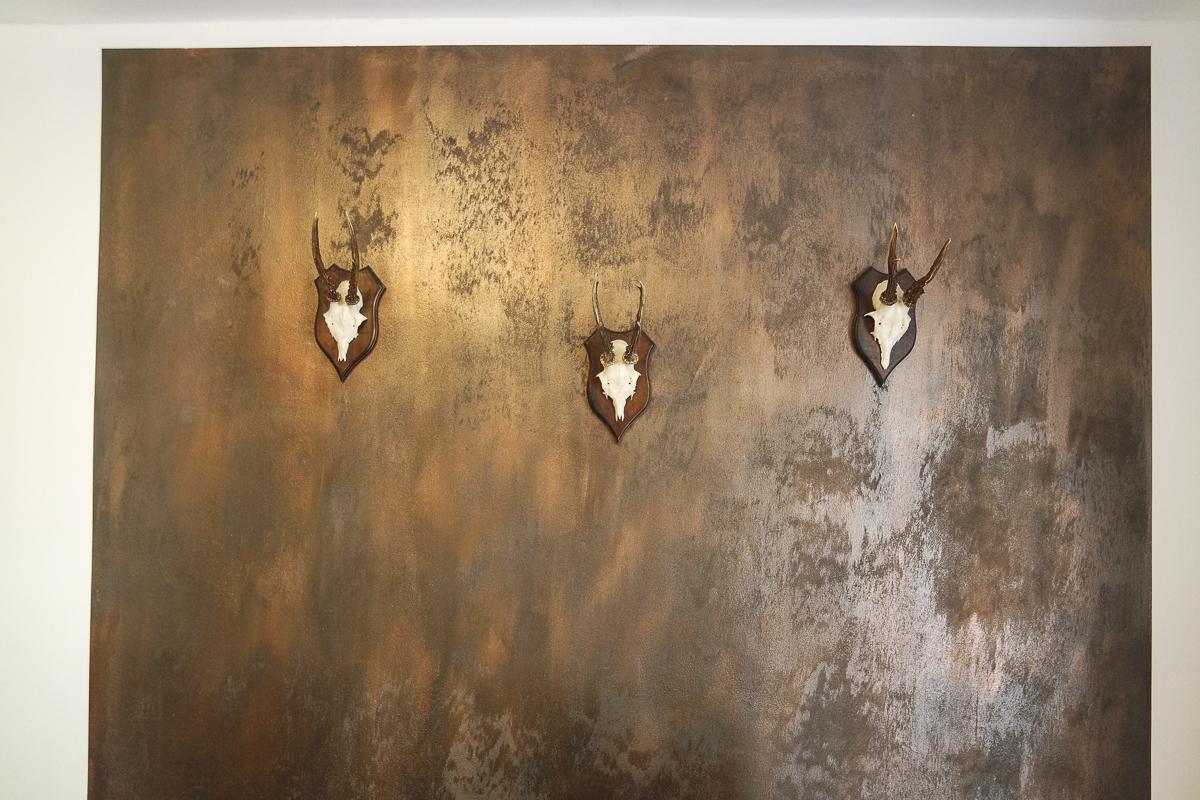 Dekorwand in Rostoptik fürs Herrenzimmer